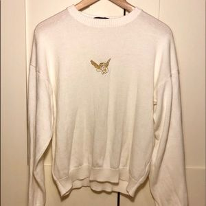 Golden Baby Angle White Sweater
